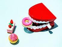 Teeth eating candy