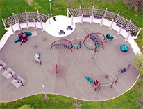 empty playground seen from above