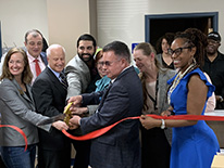 Ribbon cutting ceremony at Salud site