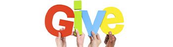 Graphic image that says Give