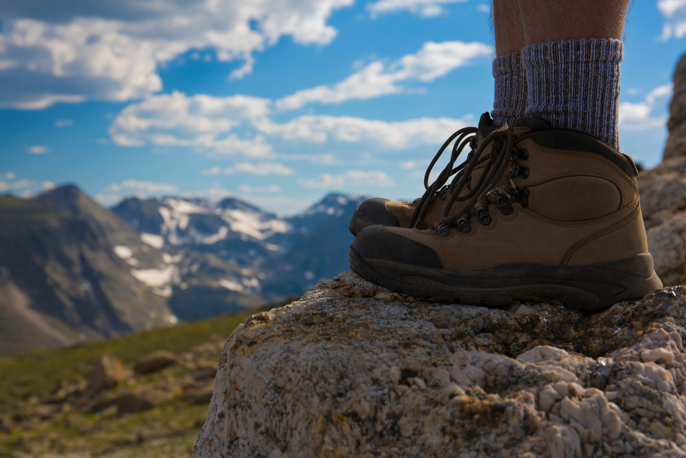Picture of hiker's boots