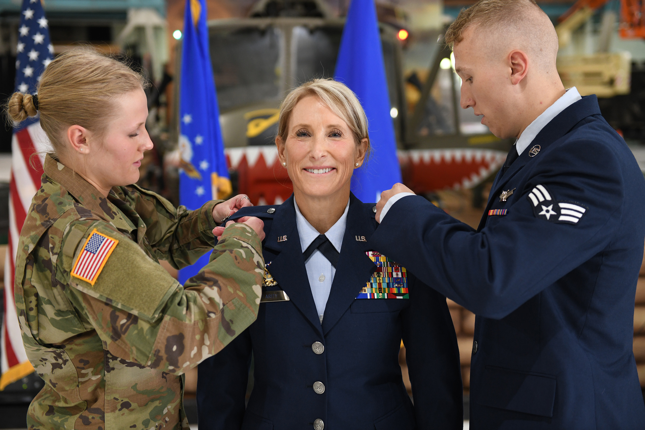 Picture of Kathleen Flarity Brigadier General pinning