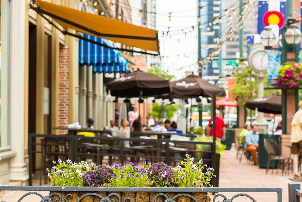 Picture of restaurants on Larimer Square