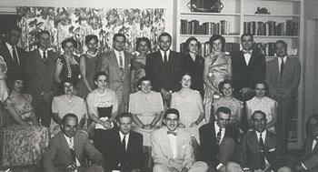 Resident's party at Dr. Taylor's home — June 30, 1954