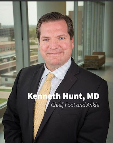 Kenneth Hunt, MD, Chair of Foot and Ankle, CU Orthopedics