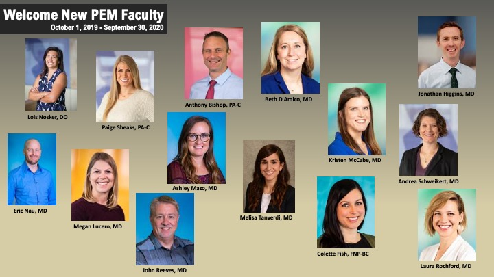 Welcome New Pediatric Emergency Medicine Faculty