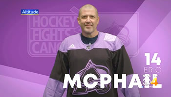 Eric McPhail honored at Hockey Fights Cancer