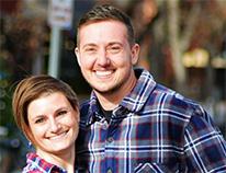 couple wearing plaid shirts