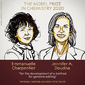 Poster of Jennifer Doudna and Emmanuelle Charpentier - 2020 Chemistry Nobel Laureates
