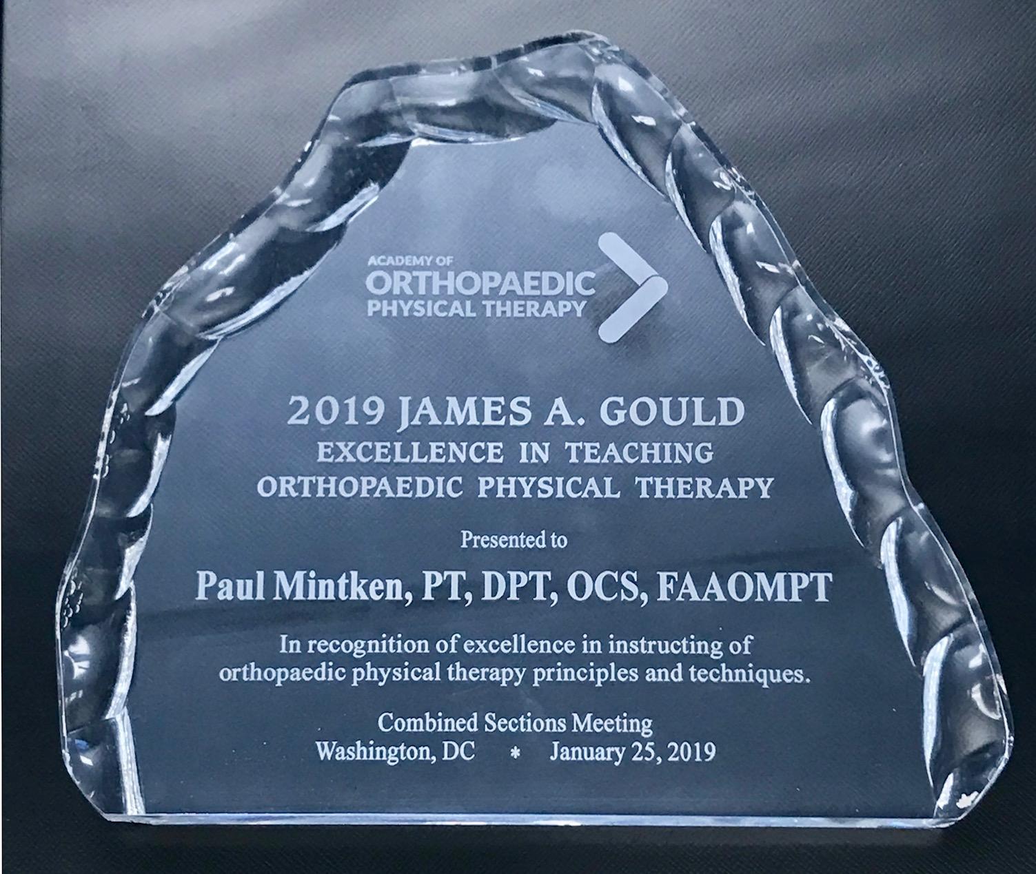 James  A. Gould Award