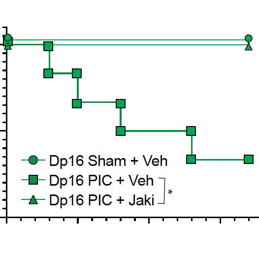 JAK1 inhibitor kaplan meier plot