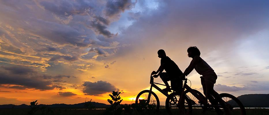 Bicycles Sunset